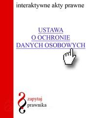 119aa5cfa8666a Ustawa o ochronie danych osobowych - - ebook - epub, mobi, pdf ...